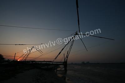 Chinese fishing nets at Kochi Fort in Kochi, India