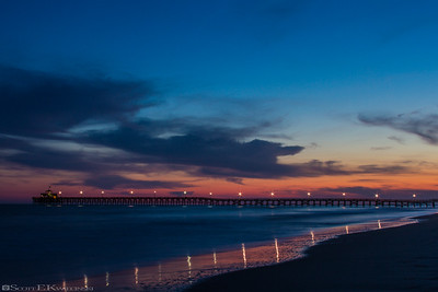 Cherry Grove Pier At Sunset