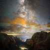 The Milky Way from Angels Landing - Wide Angle
