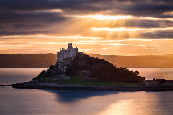 St Michael's Mount Sun Rays