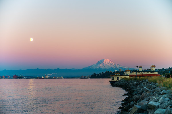 Mt. Rainier at Sunset