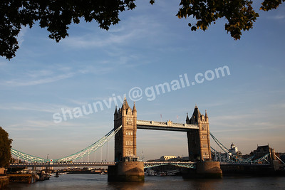 Tower Bridge crossing the River Thames in London, England.