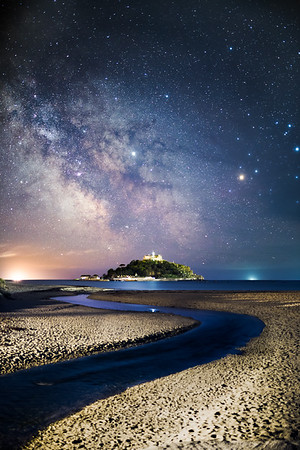 St Michael's Mount River under the Milky Way