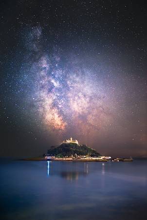 St Michael's Mount under the Milky Way