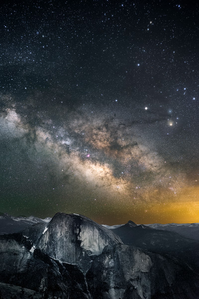 The Milky Way over Half Dome, CA