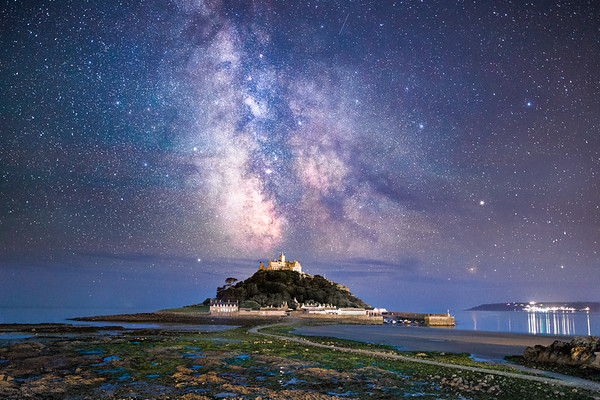 Milky Way Over St Michael's Mount