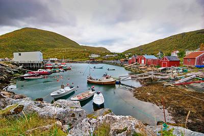 The harbor of fishing village Rødsand