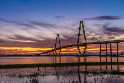 Cooper River Bridge Sunset 1