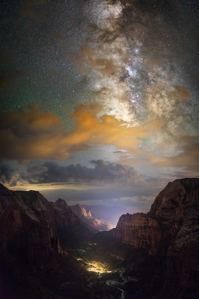 The Milky Way from Angels Landing