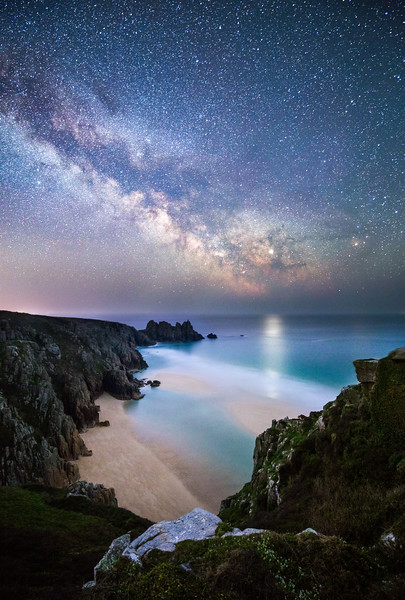 Porthcurno under the Milky Way
