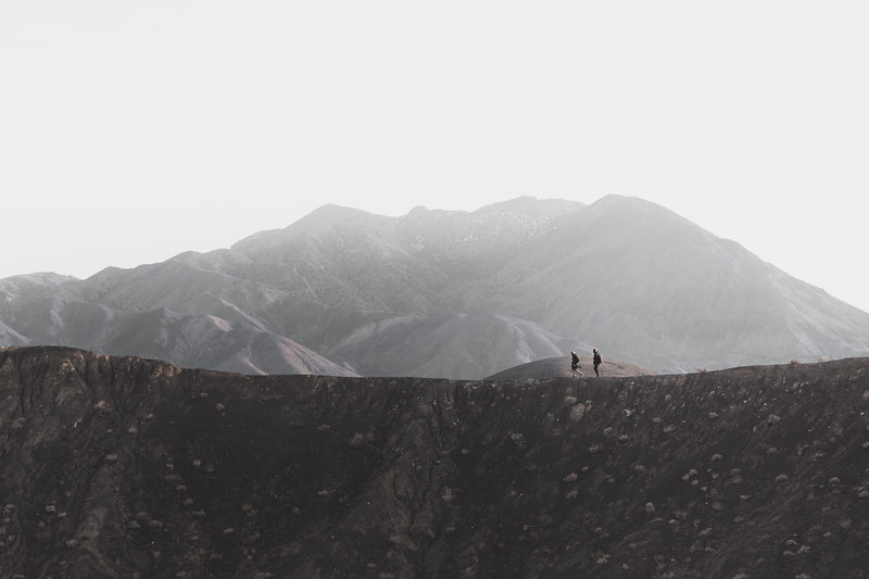 Hikers in Death Valley