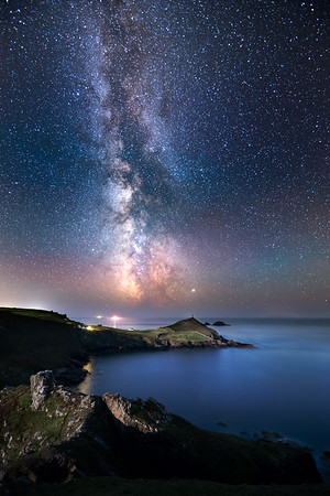 Cape Cornwall under the Milky Way