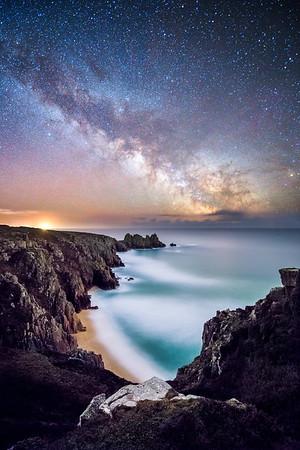 Pedn Vounder under the Milky Way