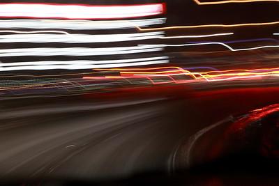 Nattlig bilfärd i Sundsvall -  Driving at night