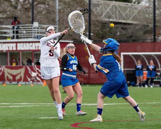 Willamette University (W) Lacrosse vs. Johnson & Wales University, February 24th, 2019