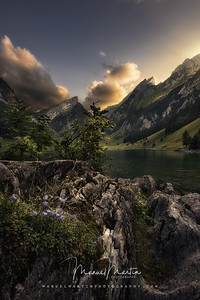 Sunset at the Seealpsee