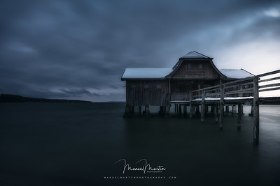 Boathouse at the lake Ammersee