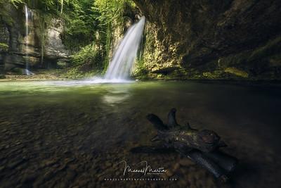 Emerald waterfall