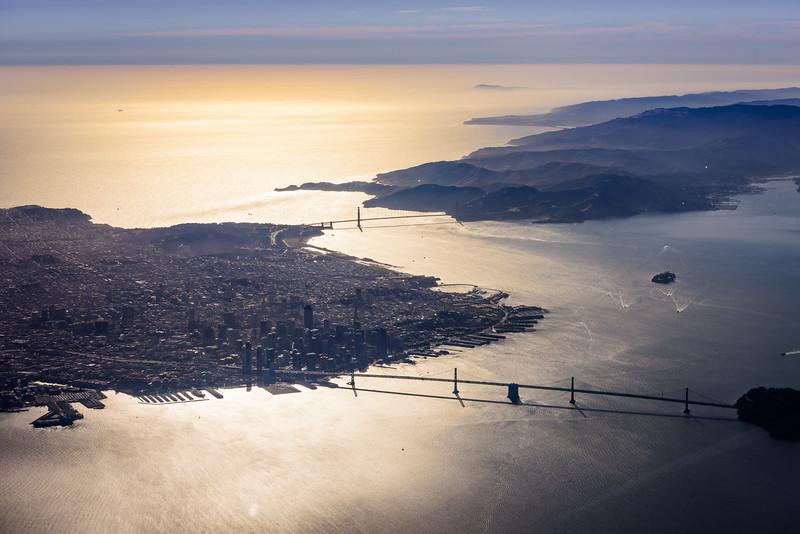 San Francisco Bay Area During Sunset