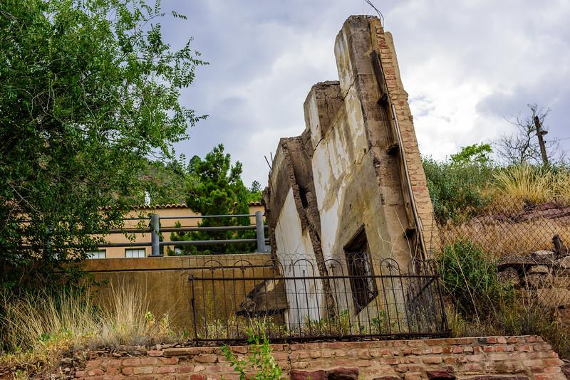 Leaning Wall in Jerome, AZ