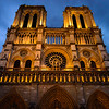 Notre Dame Glowing