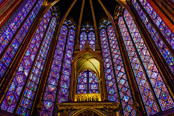 The stained glass of Sainte-Chapelle