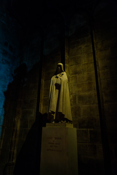 St. Therese Statue Inside Notre Dame