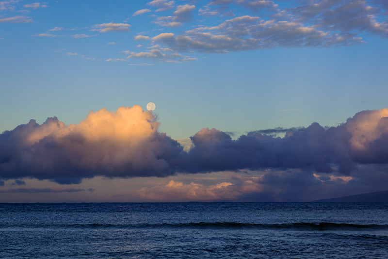 Full Moon Rising Over Maui