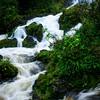 Swollen waterfall after heavy rains on Maui