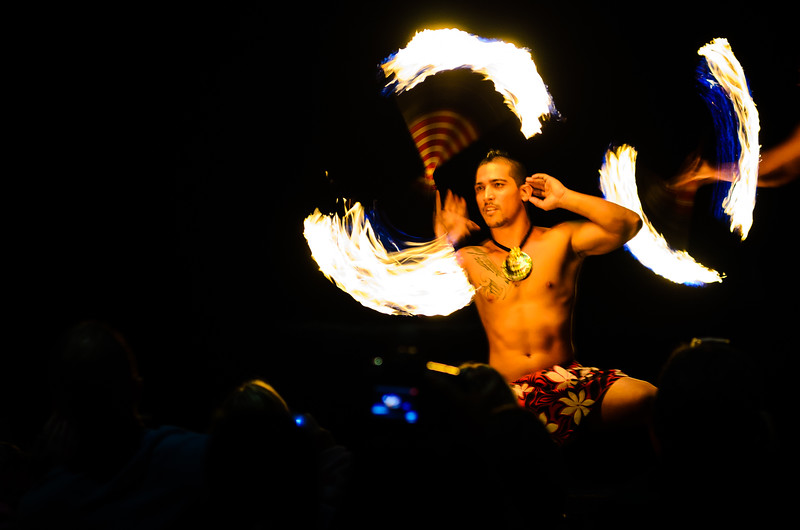 Fire-Spinner at a Luau