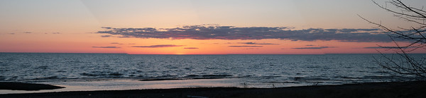 Point Gratiot Sunset Panoramic.  Click on the image to see a larger view and/or to purchase.