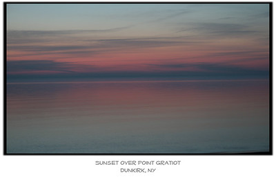 "Sunset over Point Gratiot. Available as an 8"" x 12"" print.   Click on the image to see a larger view and/or to purchase."