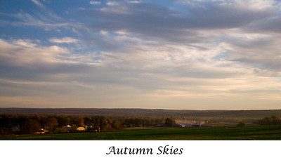 Autumn Skies, Sinclairville, NY   Click on the image to see a larger view and/or to purchase.