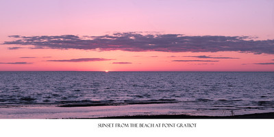 """Panoramic of a Point Gratiot Sunset. Available as a 10"""" X 20"""" print.  Click on the image to see a larger view and/or to purchase."""