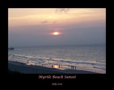"""Myrtle Beach Sunset  July 2005  11"""" X 14"""""""