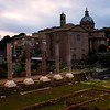 Outside the Forum at Dusk