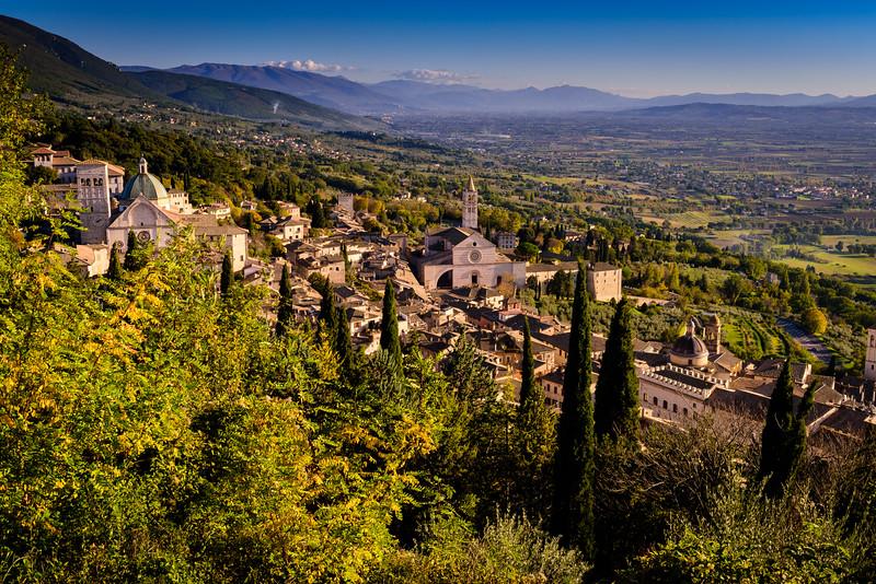 Assisi View Near Rocco Maggiore
