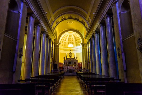 Interior of the chiesa di Sant'Agostino in Montalcino
