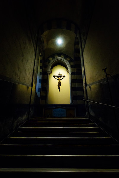 Basilica of the Crucifix - Stairs Up from the Crypt