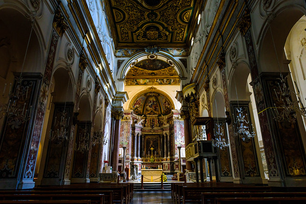 The interior of the Amalfi Cathedral