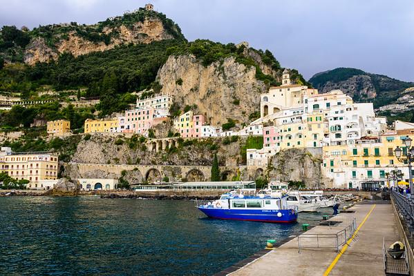 The Amalfi Coast (the actual town of Amalfi), outside of the high tourist season.