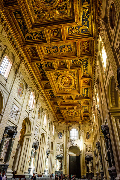 Basilica of St John Lateran - Nave (with people)