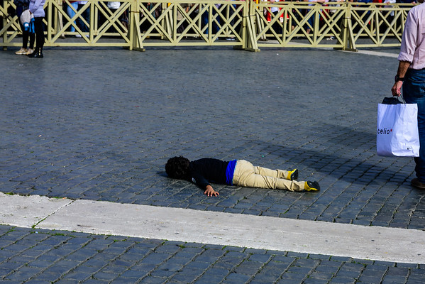 Travel is not for everyone, and this was not the only small child I saw in the Vatican who'd had enough.