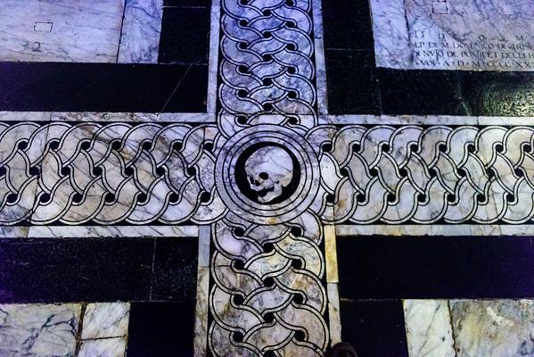 The tombs below the floor