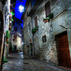 Empty Assisi Street at Night