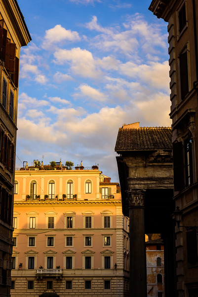 Sunset View from an Alley in Rome