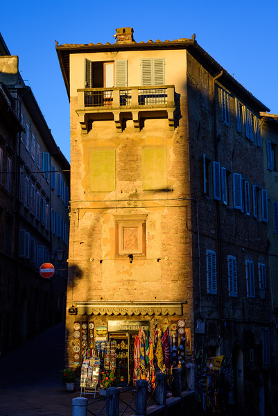 Storefront in Siena at Sunset