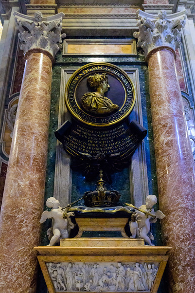 St. Peter's Basilica - Monument to Christina of Sweden