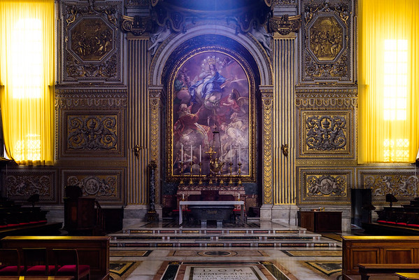 The Altar of Immaculate Conception in St. Peter's Basilica