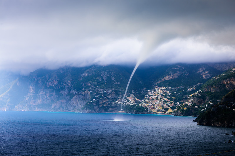 Waterspout in Amalfi